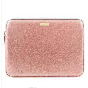 New Kate Spade pink sparkle laptop case